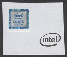 INTEL Computer Processor I7 9th Generation - 9 Gen - Seal Of Original / Self Adhesive Label - 2018 - Hologram Holography - Sciences & Technique