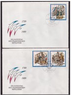 DDR - 4 7 1989 2 FDC  200. JAHRESTAG DER FRANZOSICHEN  REVOLUTION - [6] Repubblica Democratica