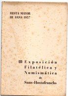 Librito Con Matasellos Commemorativo Exposicion Filatelica De Sans -hostafranchs Contiene 6 Viñetas En Su Interior. - Otros