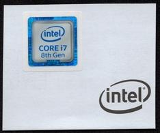 INTEL Computer Processor I7 8th Generation - 8 Gen - Seal Of Original / Self Adhesive Label - 2018 - Hologram Holography - Autres