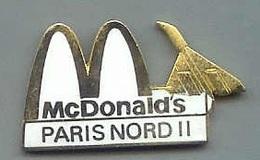 @@ Pin's Mac Donald's Avion Concorde Paris Nord II (3x1.7) @@md20 - McDonald's