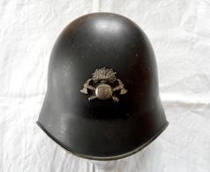 Casque De Pompier Suisse Modèle 1918/40 Canton De Vaud WW2 - Casques & Coiffures