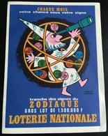 Publicité Loterie Nationale Signes Zodiaque Magicien Astronomie Astrologie Morvan - Billets De Loterie
