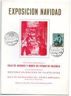 Librito Con Matasellos Commemorativo Navidad Y Ahorro De Valencia De 1971 - España