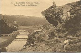 LAROCHE.  Vallée De L'Ourthe. Pont Du Vicinal Et Les Echavées  (SCAN VERSO) - La-Roche-en-Ardenne