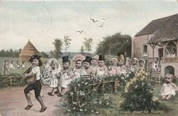 Carte Postale Ancienne Illustrée - Style Bébés Multiples - éditeur LV&cie - Enfants - Noces - Mariage - Altri