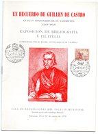 Librito Exposicion Filatelica De1970 Homenaje Guillem De Castro - España