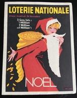 JEUNE FILLE DÉGUISÉE PÈRE NOËL LOTERIE NATIONALE PETIT DÉPLIANT ANNÉES 1960 - Billets De Loterie