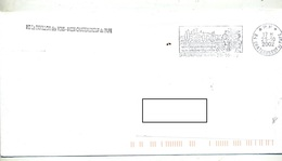 Lettre Flamme Port Paye Chateauneuf Du Pape Donjon Vin - Postmark Collection (Covers)