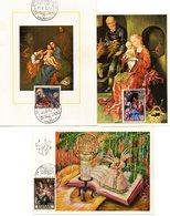 3 Tarjetas Con Matasellos De Exposicion Filatelica Navidad 1971 - 1931-Hoy: 2ª República - ... Juan Carlos I