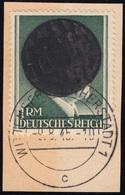 Wittenberg-Lutherstadt A IIB Aufdruck Auf 1 RM, Briefstück 9.8.45 Signiert Sturm - Allemagne