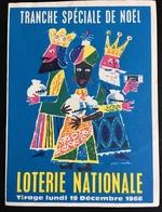 NOËL ROIS MAGE LOTERIE NATIONALE PETIT DÉPLIANT ANNÉES 1960 - Billets De Loterie