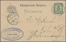 Briefmarkenhandel Aus ANSBACH 3.12.90 Nach CÖLN/RHEIN 6.12.90 - Bayern