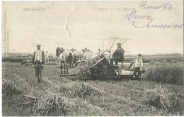 CHARSONVILLE       OURCIS  LA MOISSON       TRES RARE           ANIMEE  THEME AGRICULTURE - Frankrijk