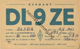 QSL - Funkkarte Dl9ZE - 53... Bonn - 1963 - Amateurfunk