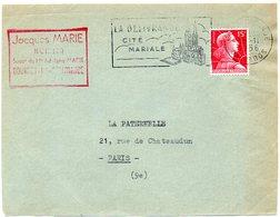 CALVADOS - Dépt N° 14 = LA DELIVRANDE 1956 = FLAMME  SECAP Illustrée D'une EGLISE ' CITE MARIALE' - Postmark Collection (Covers)