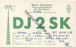 QSL - Funkkarte DJ2SK - 53... Bonn - 1957 - Amateurfunk