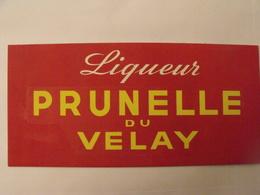Liqueur Prunelle Du Velay. Maquette Originale D'un Panneau Publicitaire Marcel Jost Vers 1950-60 - Plaques En Carton