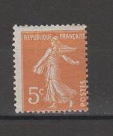FRANCE / 1921 / Y&T N° 158 ** : Semeuse Camée 5c Orange - Gomme D'origine Intacte - France