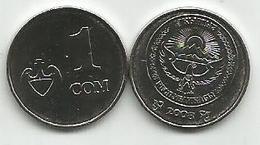 Kyrgyzstan 1 Som 2008.  High Grade - Kirguistán