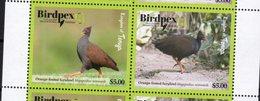 TONGA, 2018, MNH, BIRDPEX, BIRDS, 2v - Birds