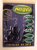 Pagès, L'infusion Du Soir. Gouache. Maquette Originale D'un Panneau Publicitaire Marcel Jost Vers 1950-60 - Plaques En Carton
