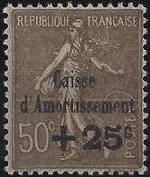 """FRANCE Caisse D'amortissement 1930 N°267a**, Variété Sans Le Point Sur Le """"i """" De Amortissement Signé BRUN - Varieties: 1921-30 Used"""