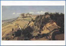 Camille COROT (1796-1875)  Volterra, La Citadelle, 1834 - Peintures & Tableaux