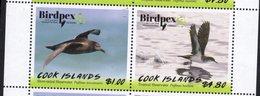 COOK ISLANDS, 2018, MNH, BIRDPEX, BIRDS, 2v - Birds