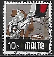 MALTE    -   1973 .   Y&T N° 470 Oblitéré   Chevalier - Malta