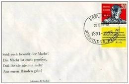 DDR - 28 10 1959 FDC TODESTAG J. R.BECHER - [6] Repubblica Democratica