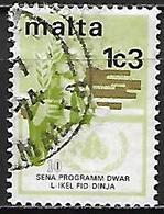 MALTE    -   1973 .   Y&T N° 477 Oblitéré    Programme Alimentaire - Malta