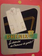 Chemise Phénix. Gouache. Maquette Originale D'un Panneau Publicitaire Marcel Jost Vers 1950-60 - Plaques En Carton