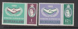 1965 Bechuanaland Botswana ICY Cooperation Year Complete Set Of 2 MNH - 1885-1964 Protectorat Du Bechuanaland