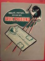 Chemise Deux Pigeons. Gouache. Maquette Originale D'un Panneau Publicitaire Marcel Jost Vers 1950-60 - Plaques En Carton