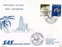 SAS - 4.2.75  FFC  DC 10  OSLO - LOS ANGELES - Aerei