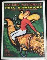 Course Chevaux Corne Abondance Grand Prix Amérique Loterie Nationale Petit Dépliant Illustré - Billets De Loterie