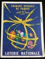 Spécial PÂQUES ANNÉES 1960 Loterie Nationale Petit Dépliant Illustré - Billets De Loterie