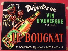 Vin D'Auvergne Le Bougnat. Gouache. Maquette Originale D'un Panneau Publicitaire Marcel Jost Vers 1950-60 - Plaques En Carton