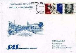 SAS - 4.2.75  FFC DC 10 SEATTLE -  COPENHAGEN - Aerei