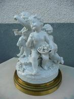 Bacchanale D'enfants Au Bouc - Groupe En Porcelaine Fine XIXe Marque à Identifier - Céramiques