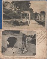 Italie- DIANO DI ALBA - 2 Cartes  (autobus,linea Alba-Diano-Bossolasco- Via Provinciale  +  Tunnel  )    CPA - Italie