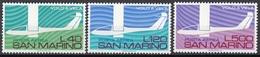 San Marino 1974 Bf. 150/152 Posta Aerea Aerei Moderni Volo A Vela Full Set MNH - Aerei