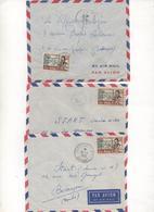 BENIN-DAHOMEY 3 Letters 1956-57 - Bénin – Dahomey (1960-...)