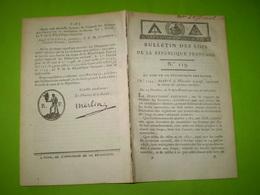 An V :Chasse Aux Animaux Nuisibles: Loups.. Remplacement Fonctionnaires Publics;Droits Sur Billets De Spectacle;sucres - Décrets & Lois