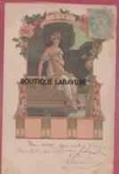ILLUSTRATEUR -Elisabeth SONREL--Eté--Femme A La Fontaine --Série Des Quatre Saisons--art Nouveau---precurseur - Illustrateurs & Photographes