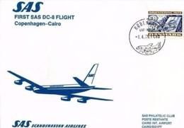 SAS - 1 4 75 FFC COPENHAGEN - CAIRO CON DC 8 - Aerei