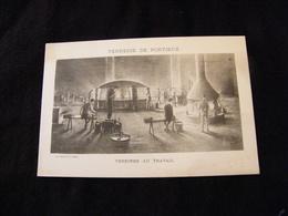 88 Portieux Verrerie De Portieux Verriers Au Travail - France