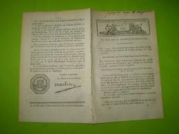 An V : Loi Sur La Destruction Des Loups; Anniversaire Du 14 Juillet; Paiement De La Dette Publique - Décrets & Lois