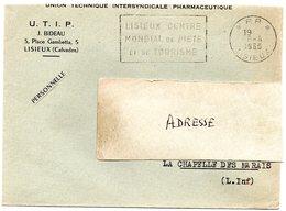 CALVADOS - Dépt N° 14 = LISIEUX 1960 = FLAMME PP Non Codée = SECAP  '  CENTRE MONDIAL De PIETE + TOURISME   ' - Postmark Collection (Covers)